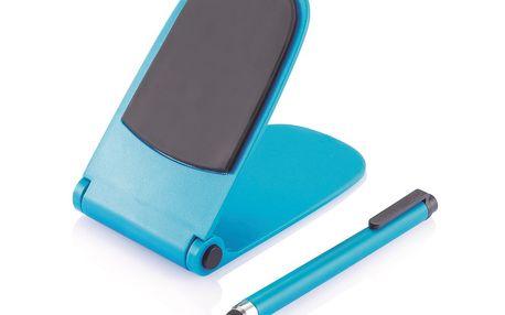 Držák na telefon s dotykovým perem, modrý