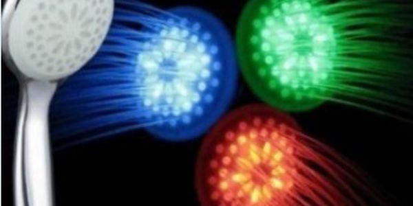 LED svítící sprchová hlavice 3 barvy v závislosti na teplotě vodě