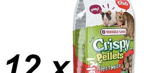 Versele-Laga Crispy pelety pro potkany a myši 12 x 1kg