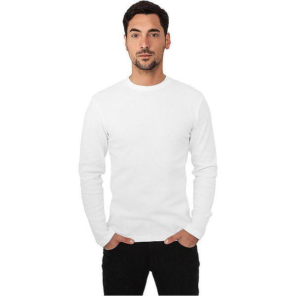 Pánské bílé tričko Urban Classics s dlouhými rukávy