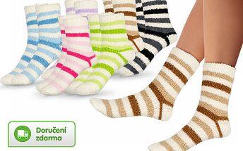 Dámské teplé ponožky – 6 párů