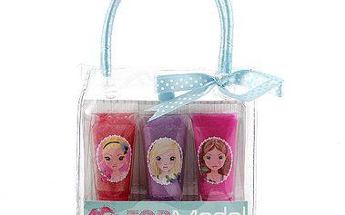 Praktická dárková taštička obsahující tři lesky na rty v designu mimořádně oblíbené kolekce TOP Model