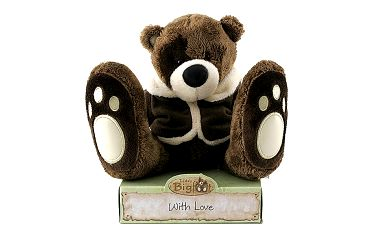 Teddy Big Foot Medvídek 13cm v hnědém kabátku, TBF
