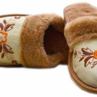 Dámske papuče z ovčej vlny