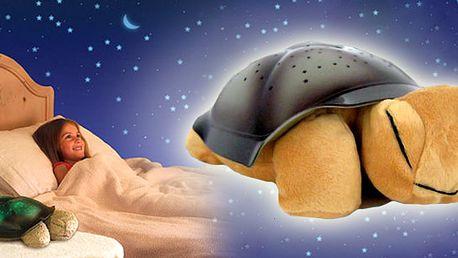 Plyšová magická svítící želva! Kupte pro své děti vhodnou lampičku ve tvaru plyšové želvičky, která osvítí Váš strop hvězdy - nejoblíbenější lampička pro děti!!