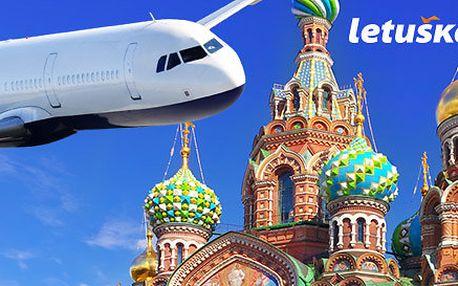 Letenka pro 1 osobu do Petrohradu