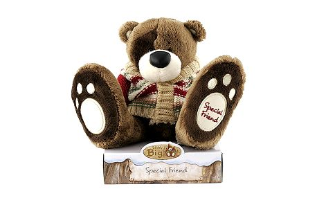 Special Friend - úžasný a příjemný plyšový medvídek Teddy Big Foot v zimním svetru.