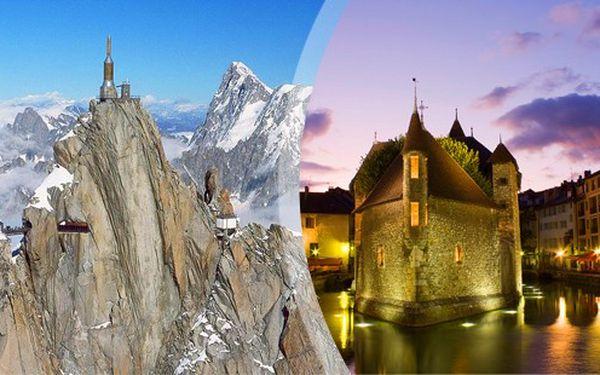 víkned ve Švýcarsku a v Savojských Alpách.
