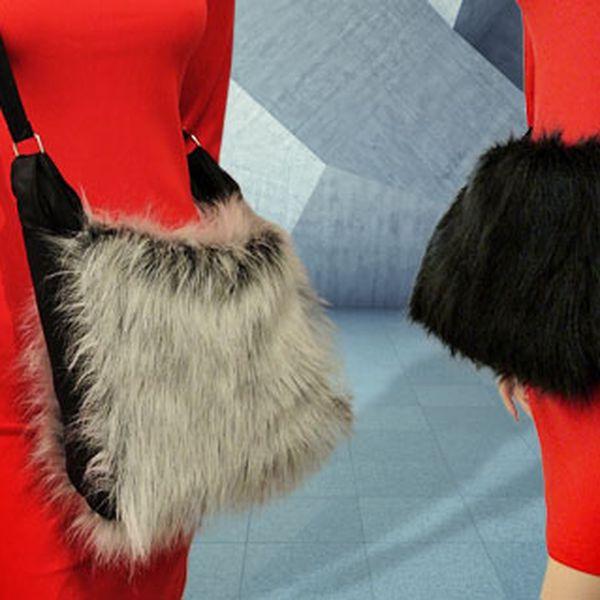Dámská plyšová kabelka – 3 barvy