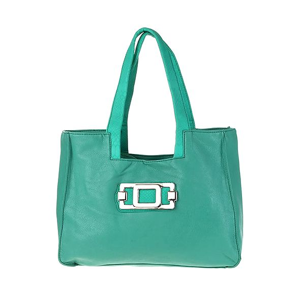 Zelená kabelka se sponou
