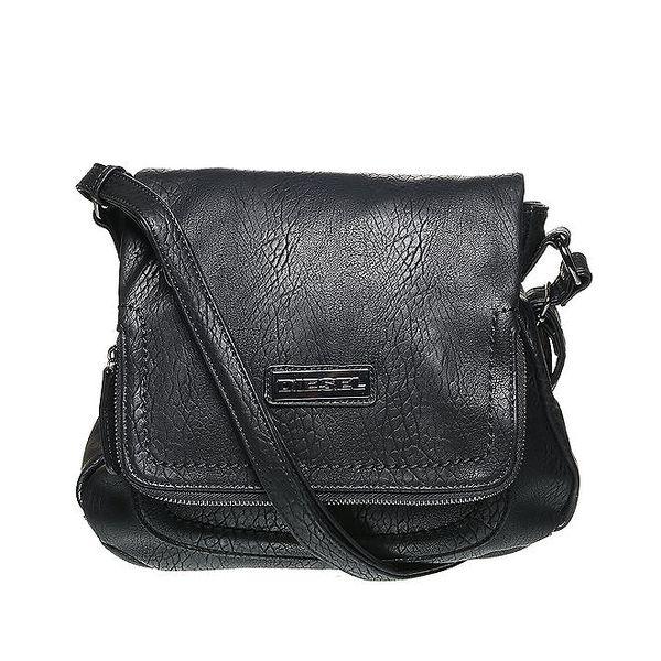 Dámská černá kabelka s logem Diesel