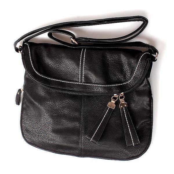 Dámská černá kabelka London Fashion s nastavitelným popruhem
