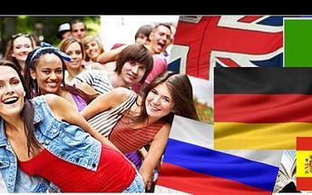 Angličtina, ruština, němčina, španělština, nebo italština! Všechny tyto jazyky můžete studovat pod dohledem rodilých mluvčích. Studijní materiály v ceně!