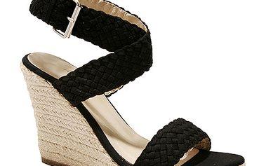Černé sandály na platformě Red Hot