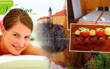 Romantický 3denní POBYT na Vysočině! Welcome drink, snídaně, VEČEŘE, MASÁŽ, ČOKOLÁDOVÁ FONTÁNA.