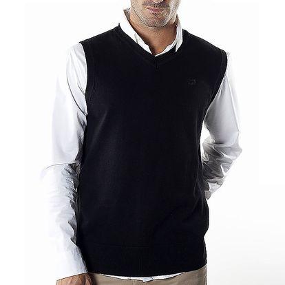 Pánská černá úpletová vesta Bendorff