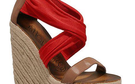 Červené sandály na platformě Red Hot