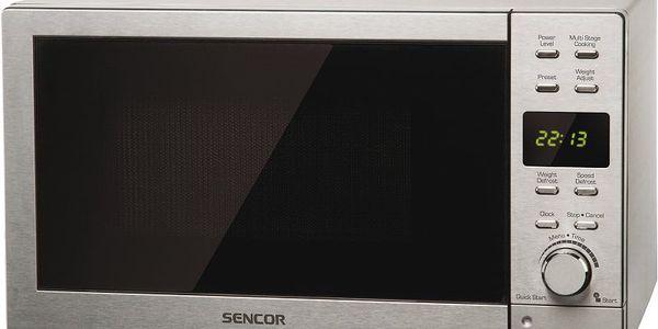 Nerezová mikrovlnná trouba SMW 6023 DS
