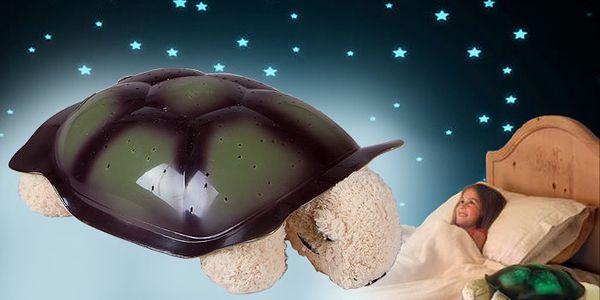 Magická svítící želvička promítající hvězdy ve 3 barvách pro příjemnější usínání