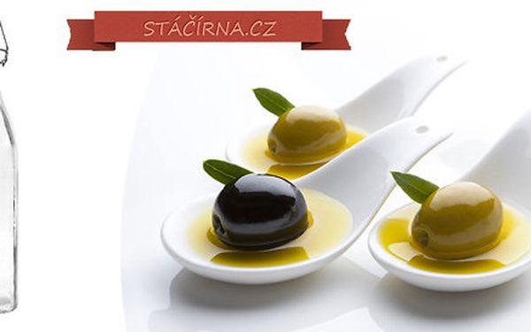 Extra panenský olivový olej stáčený do dárkového skla s pákovým uzávěrem