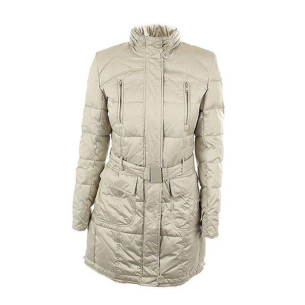 Dámský péřový kabát slonovinové barvy Company&Co