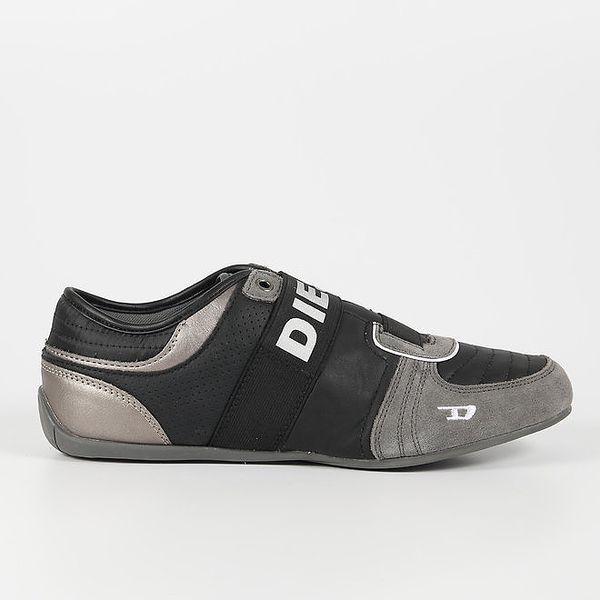 Pánské černo-šedé tenisky Diesel
