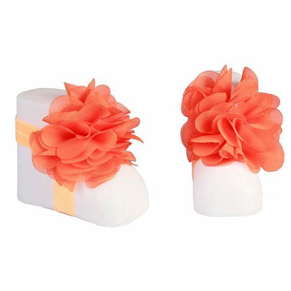Oranžová mašle na botičky