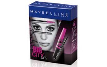 Maybelline Big Eyes řasenka se dvěma kartáčky pro horní a dolní řasy pro efekt 360° + Maybelline Master Precise tekuté oční linky pro precizní tah