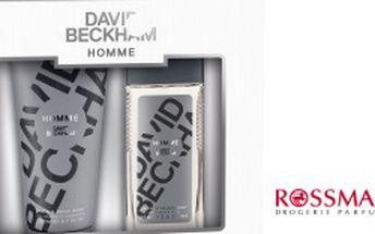Vánoční dárkový balíček David Beckham Homme deodorant ve skle 75 ml + sprchový gel 200 ml pro muže