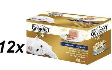 Purina Gourmet Gold paštika multibalení 12 x ( 4x85g )