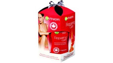 Dárkový balíček Garnier Repair - regenerační tělové mléko, výživný regenerační krém, regenerační krém na ruce a regenerační balzám na rty