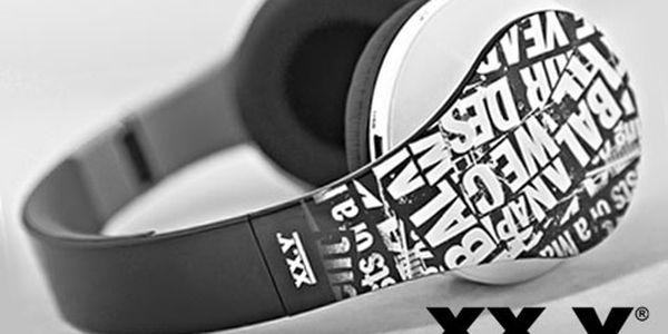 Moderní sluchátka s MP3 a rádiem – 2 barvy