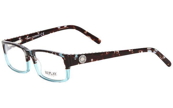 Pánské žíhané brýle s tyrkysovým základem Replay