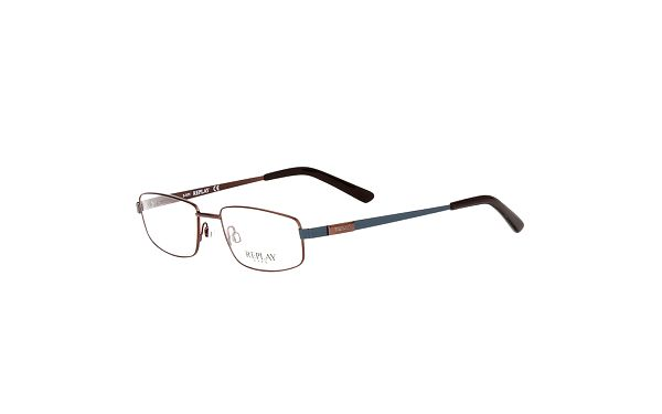 Pánské hranaté hnědé brýle Replay
