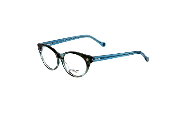 Dámské modře laděné plastové brýle Replay