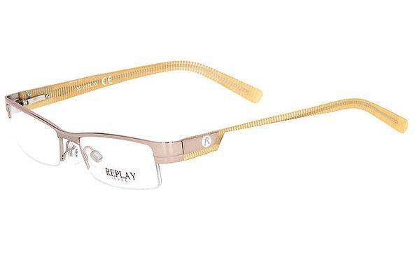 Dámské okrovo-zlaté hranaté brýle Replay