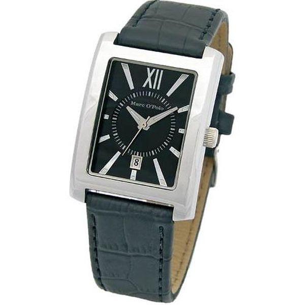 Pánské černé hodinky Marc O´Polo s černým řemínkem