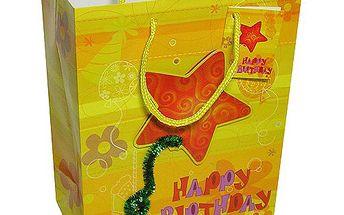 Dárkové tašky Dárková taška 3D hvězda 180x227 mm