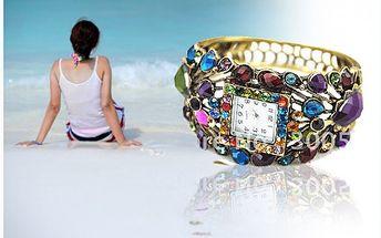 Luxusní dámské hodinky s kameny včetně poštovného!! Originální zpracování. Určitě Vám budou slušet!