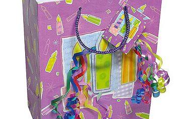 Dárkové tašky Dárková taška svíčky a konfety 180x227 mm