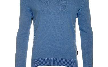 Pánský modrý svetr s výstřihem do V Roberto Verino