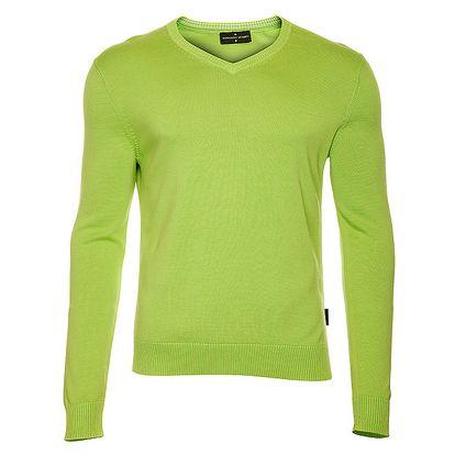 Pánský zelený svetr s výstřihem do V Roberto Verino