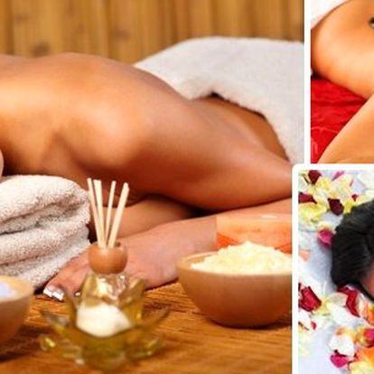 Balíček relaxačních masáží na 60 minut. 3x Aromaterapeutická holistická masáž a 3x masáž lávovými kameny.