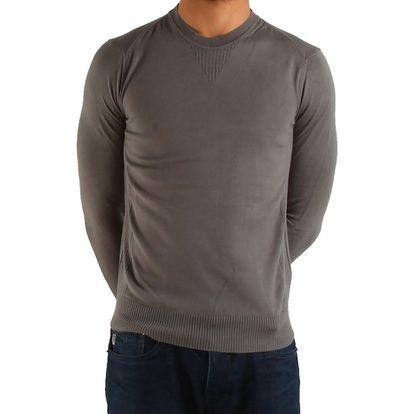 Pánský ocelově šedý svetr Calvin Klein
