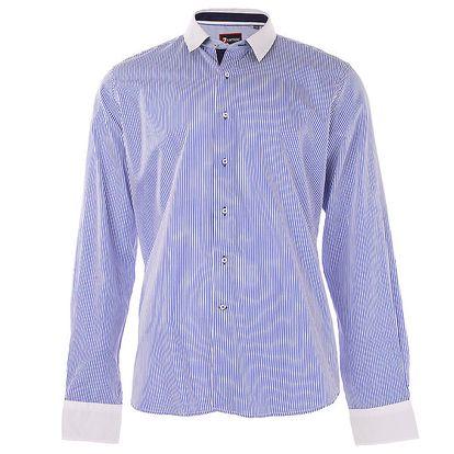 Pánská modrá použkovaná košile 7Camicie
