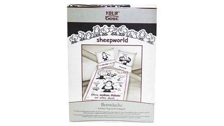Povlečení Sheepworld Povlečení Schatz (135x200cm a 80x80cm), Sheepworld