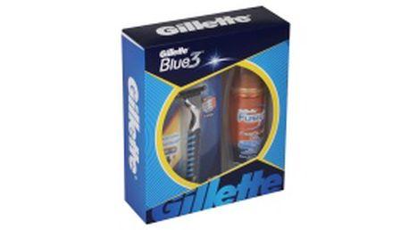 Vánoční balíček Gillette Blue3 holící strojek 1 ks + gel na holení 75 ml. Kupujte v prodejnách ROSSMANN.