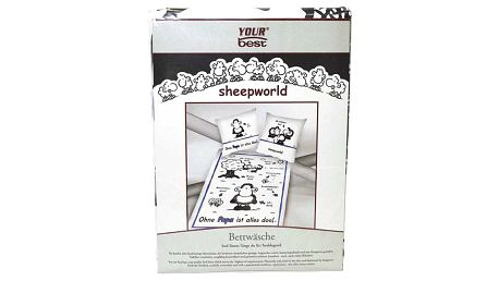 Povlečení Sheepworld Povlečení Papa (135x200cm a 80x80cm), Sheepworld