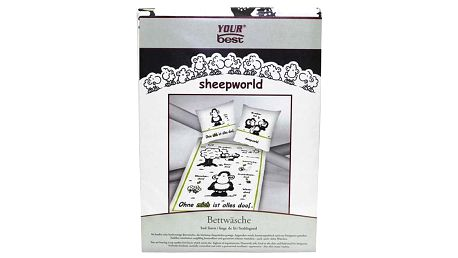 Povlečení Sheepworld Povlečení Mich (135x200cm a 80x80cm), Sheepworld
