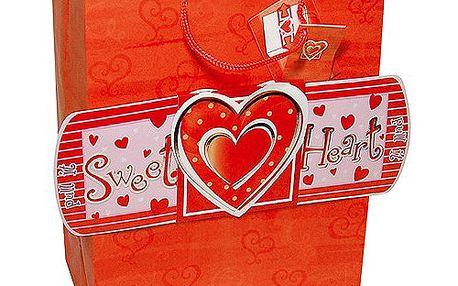 """Dárkové tašky Dárková taška vytahovací červená """"sweet heart"""" 264x327 mm"""